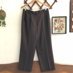 Silk & Wool High Rise Trousers